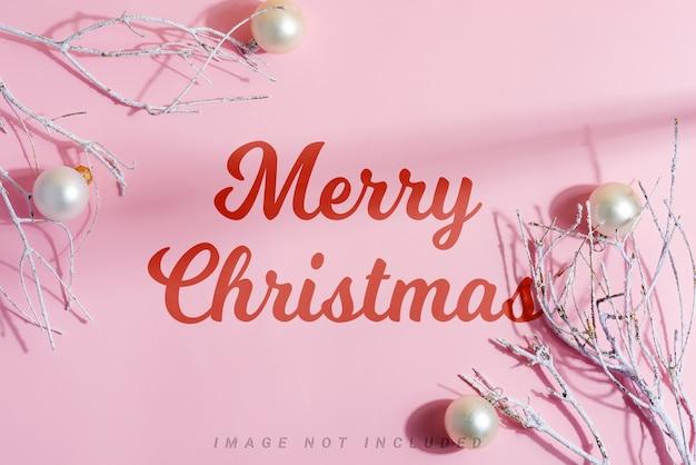 モックアップクリスマスフレーム装飾ホリデーアクセサリー。 Premium Psd