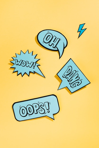 Mockup collection of speech bubbles Free Psd