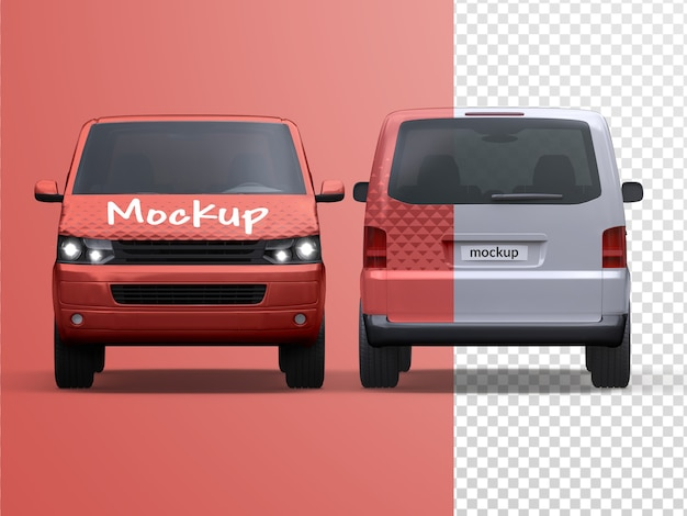 Mockup of commercial vehicle delivery van isolated Premium Psd