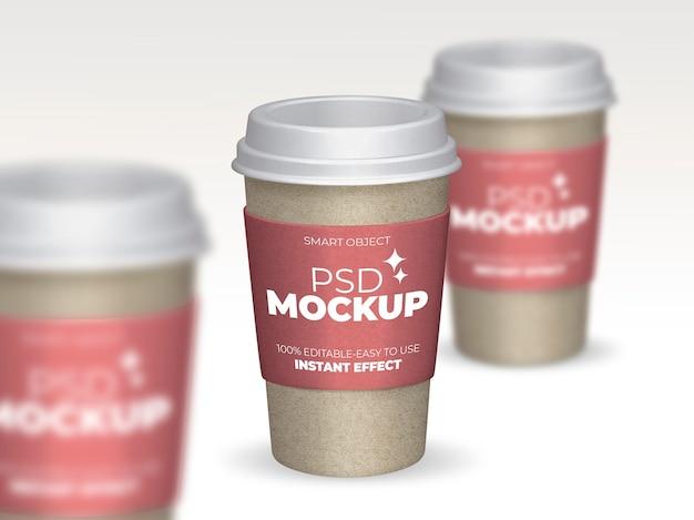 Состав макета кофейных чашек Бесплатные Psd
