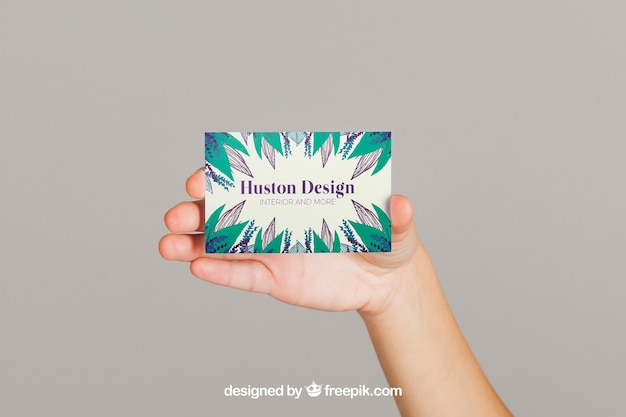 Mockup Concept Of Business Card Presentation Free Psd