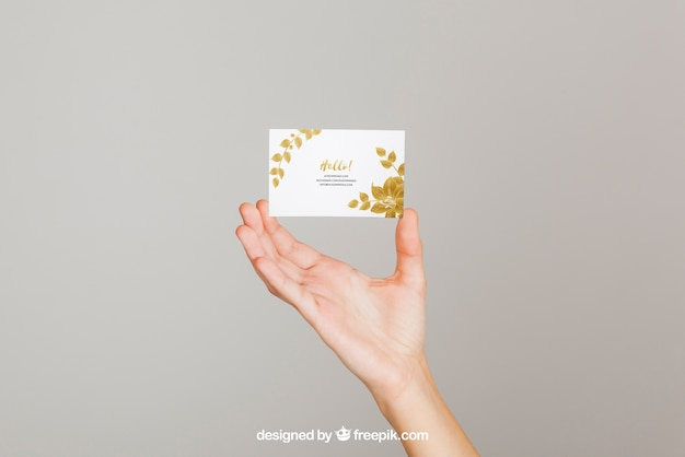 Mockup concept of hand holding business card psd file free download mockup concept of hand holding business card free psd colourmoves