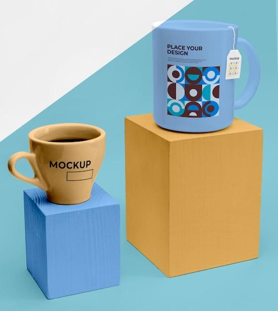 차 모형 컵 무료 PSD 파일