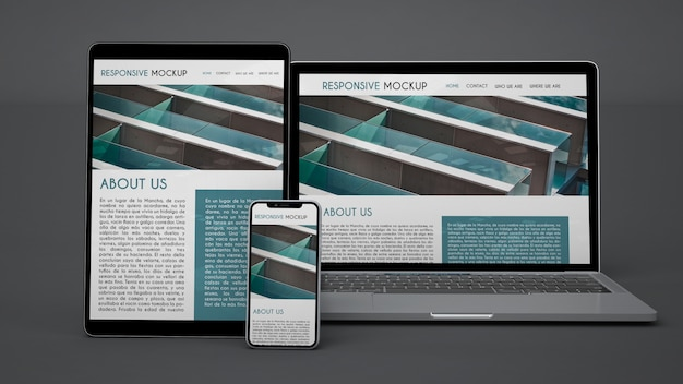 Mockup of electronic devices Free Psd