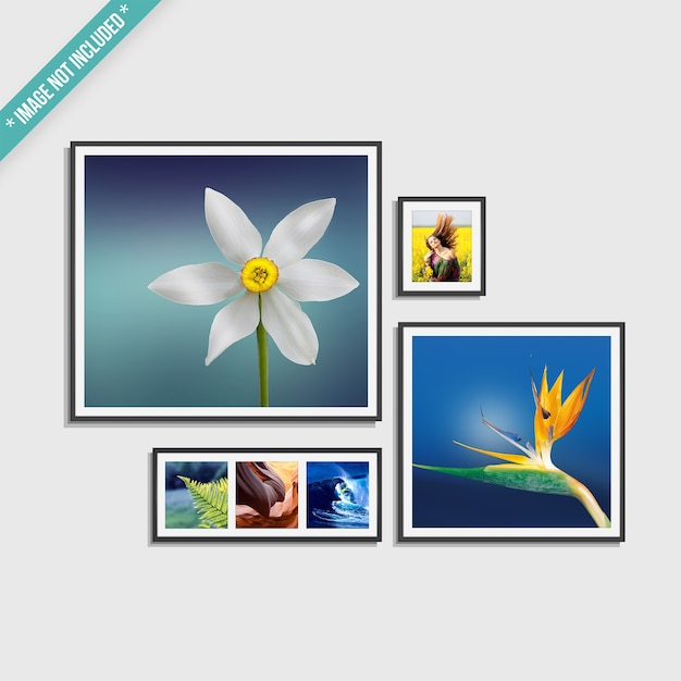 Mockup of framed photos Premium Psd