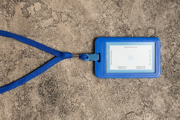 Mockup of id card holder Free Psd