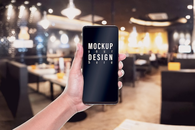 Mockup image mobile phone for your advertisement Premium Psd