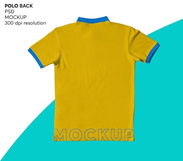 Мокап изолированных мужская рубашка поло назад Premium Psd