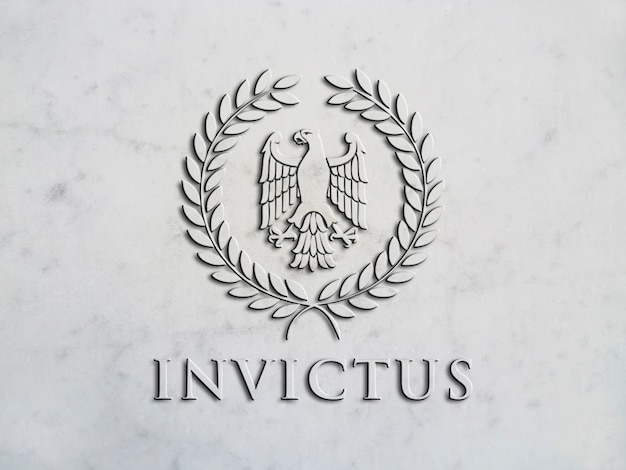 Mockup logo in high relief on marble Premium Psd