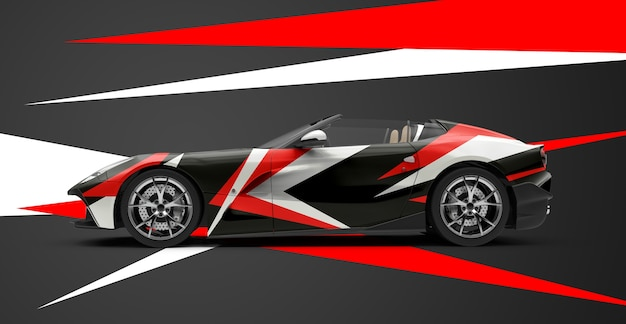 Mockup of a luxury generic sport car Premium Psd