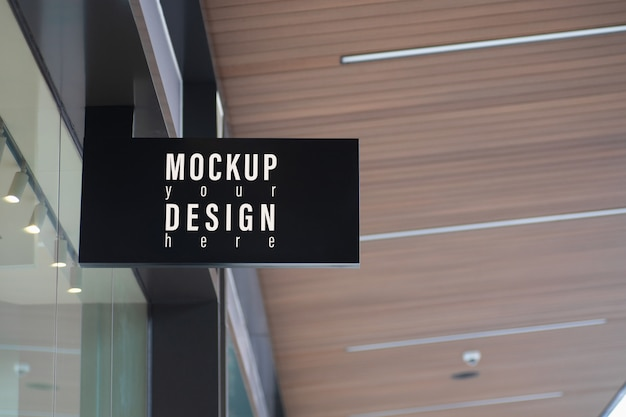 Mockup modern store signboard Premium Psd