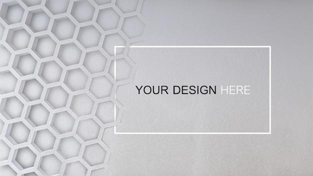 コンクリートの壁の3 dレンダリング画像のモックアップ Premium Psd