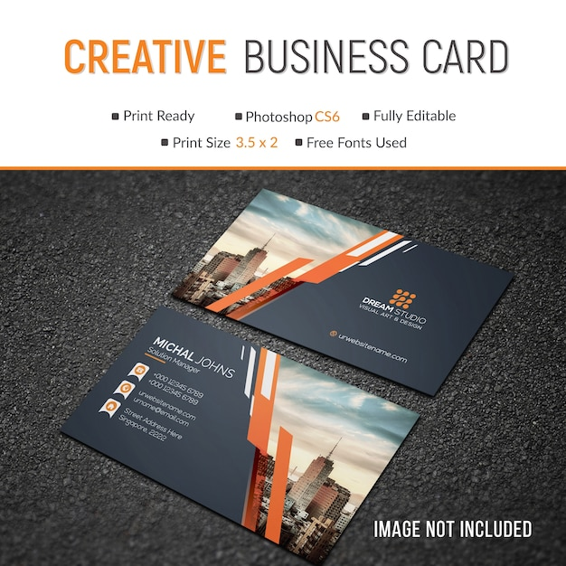 Mockup of business card with photo of city psd file premium download mockup of business card with photo of city premium psd reheart Choice Image