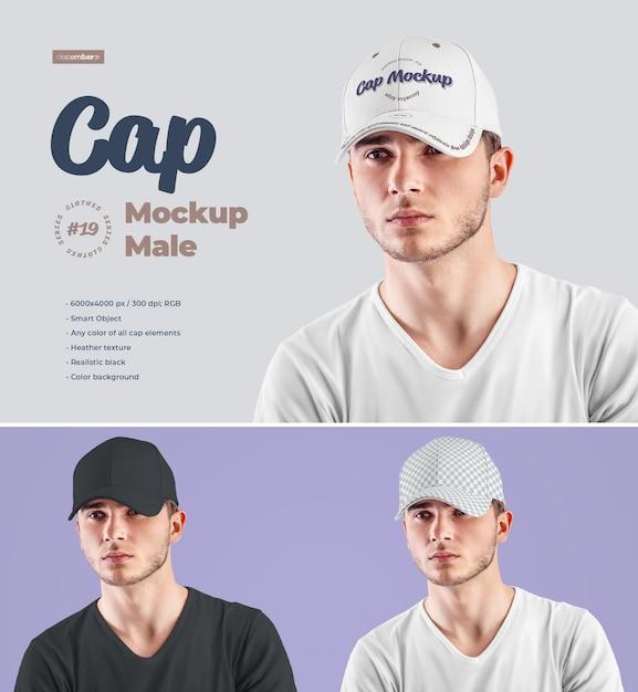 남성용 모자 모형 프리미엄 PSD 파일