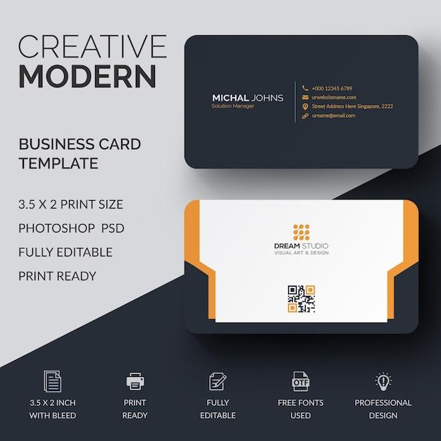 Mockup of modern business card psd file premium download mockup of modern business card premium psd reheart Choice Image