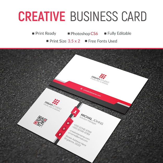 Mockup of modern red and white business card psd file premium download mockup of modern red and white business card premium psd reheart Choice Image