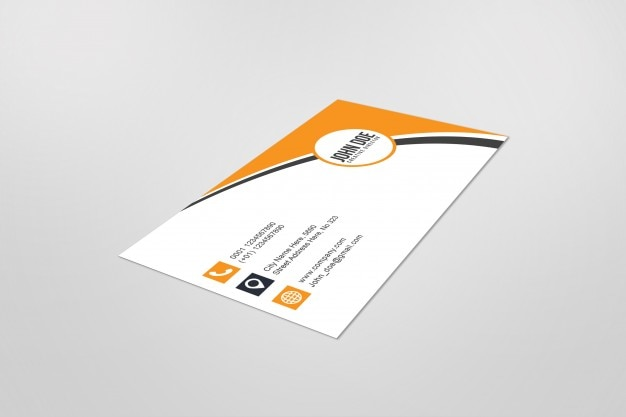 Mockup of singe business card Free Psd
