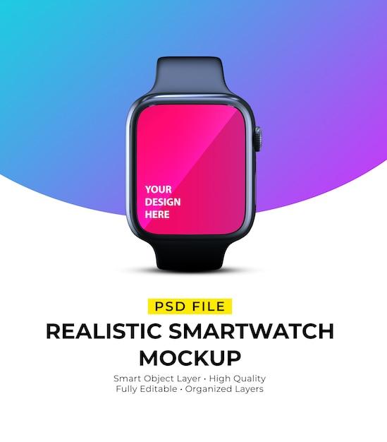 Mockup of realistic elegant wearable smartwatch Premium Psd