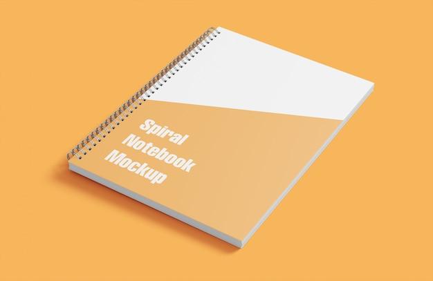 Mockup of spiral notebook