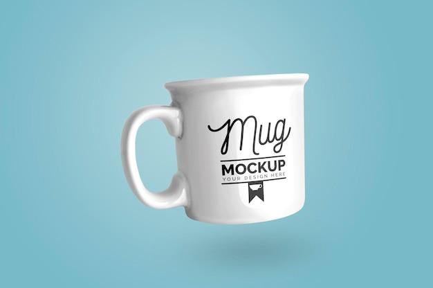 Mockup of white mug Free Psd
