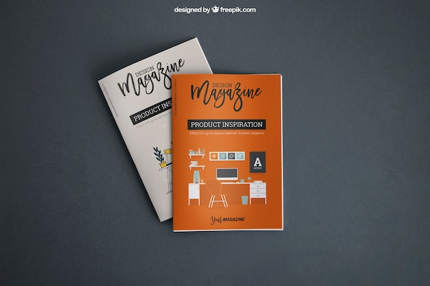 Mockup with covers Free Psd