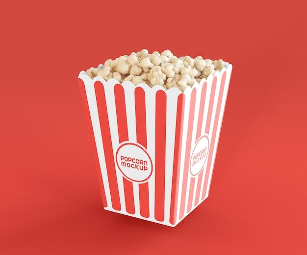 Mockup with popcorn bucket Premium Psd