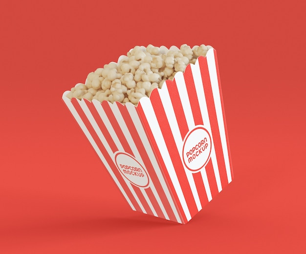 Mockup with popcorn bucket Premium Psd