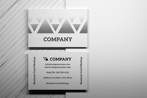 Mockup with top view of business cards Premium Psd