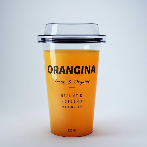Апельсиновый сок mockup Бесплатные Psd