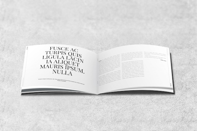 Ландшафтный журнал или брошюра mockup Premium Psd