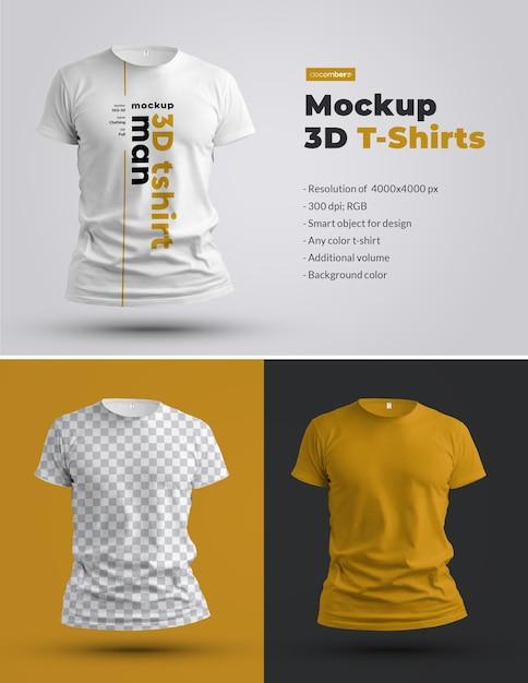 Mockups 3d t-shirts Premium Psd