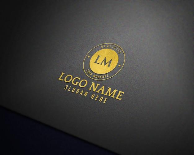 Modern 3d realistic logo mockup Premium Psd