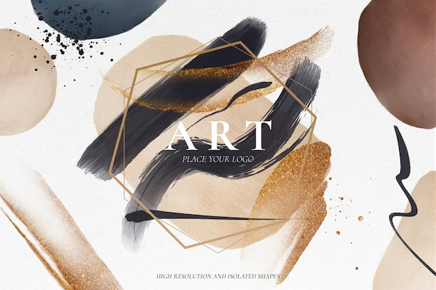 Modern abstract background Free Psd