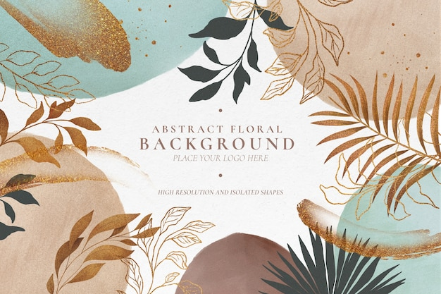 Modern abstract floral background Free Psd
