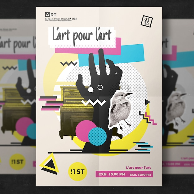 modern artistic flyer template psd file free download