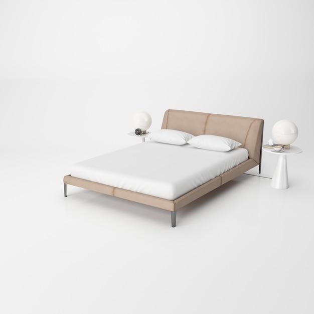 Современный интерьер спальни изолирован Бесплатные Psd