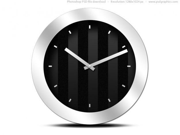 Modern black clock icon (psd) PSD file | Free Download