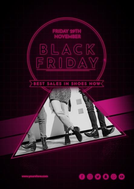 Modern black friday cover mockup Free Psd