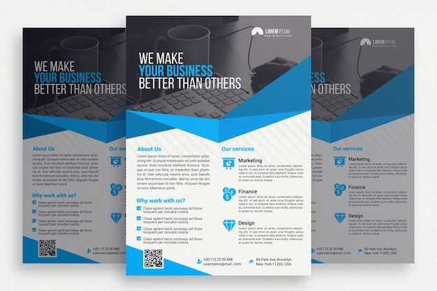 Modern business brochure PSD file | Free Download