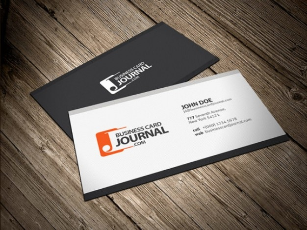 Modern business card design PSD PSD file