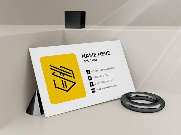 Modern business card mockup 3d render premium psd