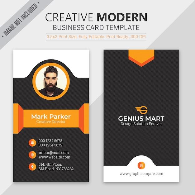 Modern business card template Premium Psd