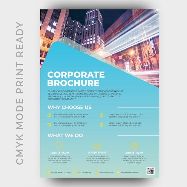 Modern business flyer design template Premium Psd
