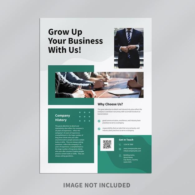 Дизайн шаблона флаера современного бизнеса Premium Psd
