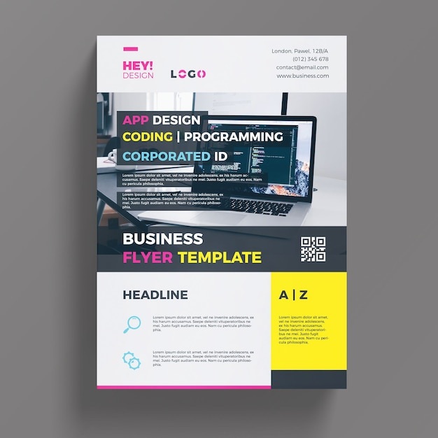 Modern business flyer template psd file free download modern business flyer template free psd accmission Images