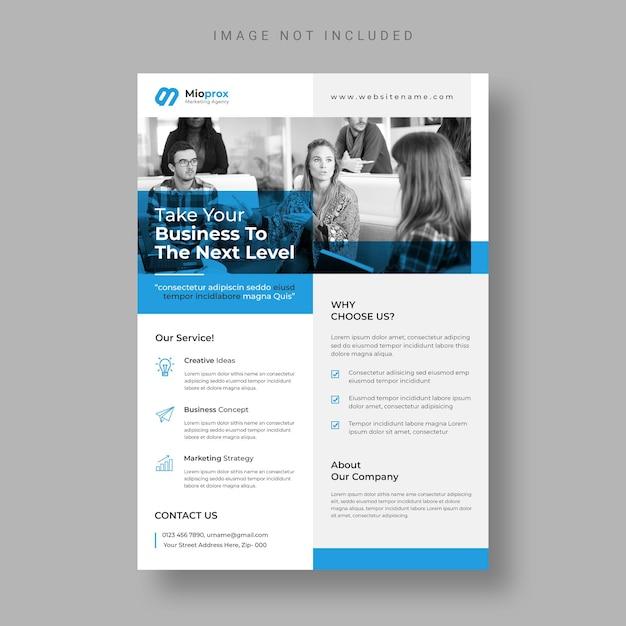 Modern business flyer template Free Psd