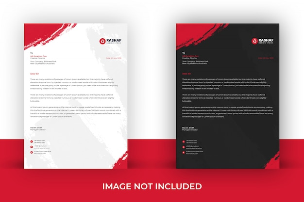 Modern business letterhead template Premium Psd