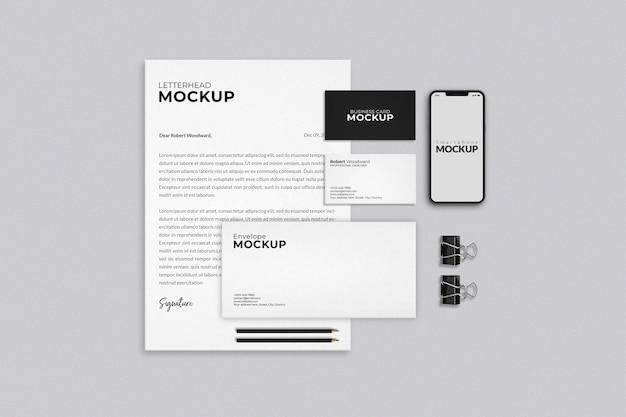 현대 비즈니스 편지지 모형 디자인 프리미엄 PSD 파일