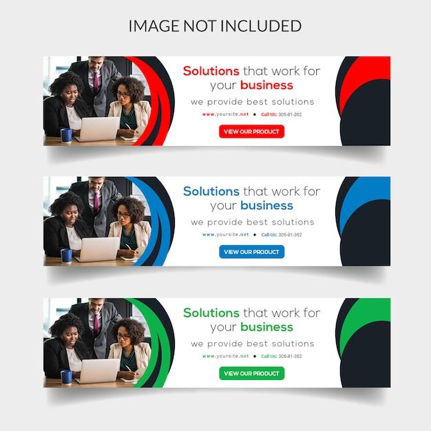 Modern business web banner Premium Psd