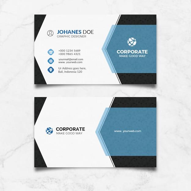 Modern clean business card Premium Psd